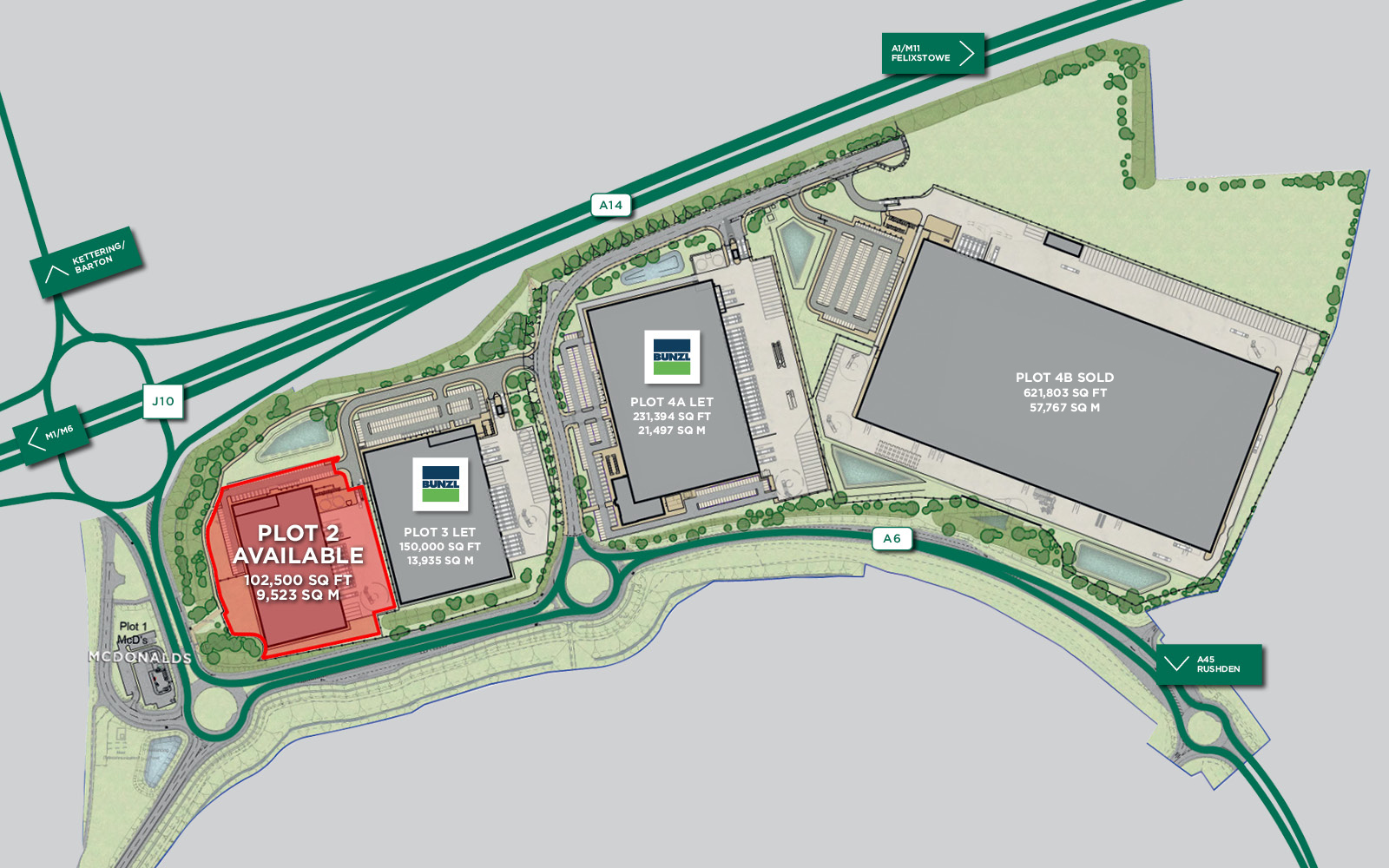 Segro Park Kettering Gateway Siteplan
